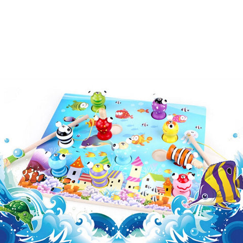 3D Intelligent Magnetic Fishing Kit for Children Random Delivery