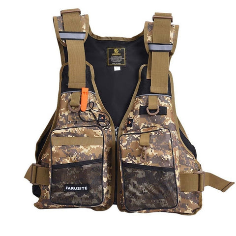 Adult Camouflage Foam Flotation Swimming Fishing Life Jacket Vest