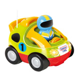 Beiens Children's Cartoon Remote Control Car with Music and Lights Green