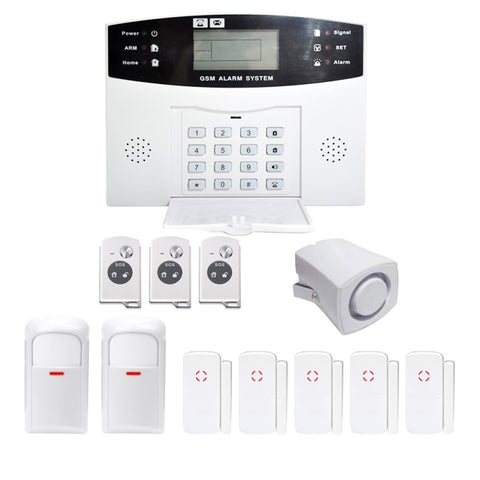Danmini YA-500-GSM-21 Intelligent Fireproof Anti-theft GSM Alarm System US Plug White