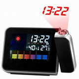 Digital LCD Projection Alarm Clock with Calendar Weather Forecast Station