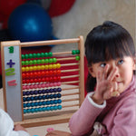 Early Educational Toys 10 Rows Large Size Wooden Calculating Frame Random Color