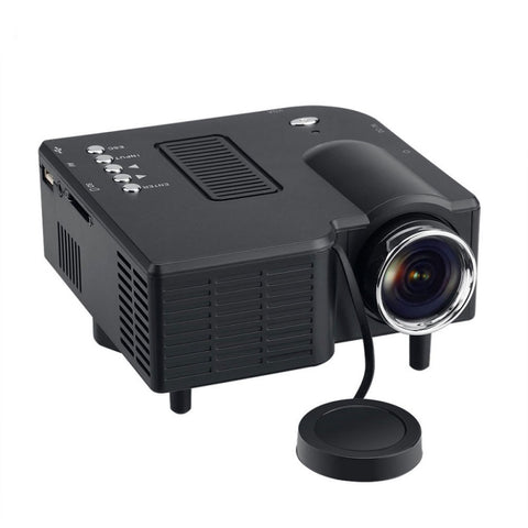 GM40 Mini Multimedia LED Projector Home Cinema - US Plug, Black