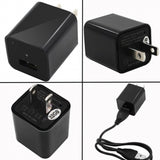 HD 1080P USB Wall Charger Adapter Spy Cameras Mini Camcorder US Plug