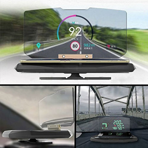 HUD Head-Up Display Car Cell Phone GPS Navigation Image Reflector Holder Mount