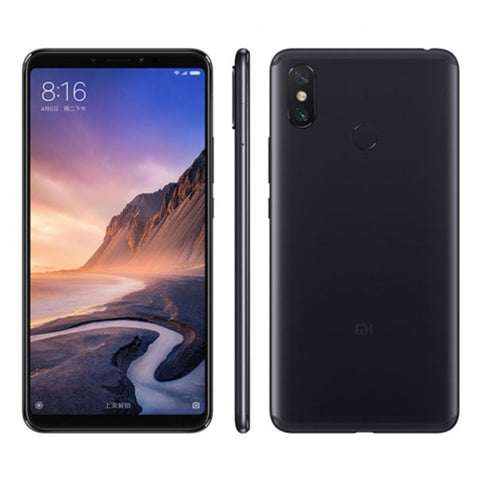 "Original Xiaomi Mi Max 3 Full Screen 6.9"" LCD 4GB RAM 64GB ROM Snapdragon 636 Octa Core AI Dual Camera B4 B20 4G Smartphone Black"