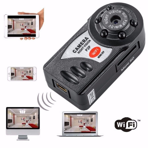 Q7 HD 1080P WiFi Remote Camera with Night Vision Black