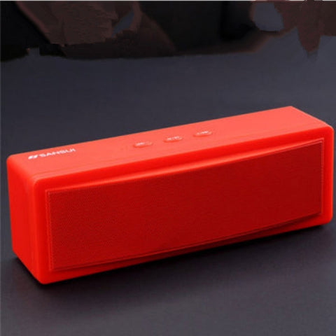 Sansui T18 Wireless Bluetooth Speaker 1200mAh Subwoofer Dual Unit TF Card U Disk Red