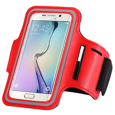 Sports Running Yoga Armband Case Cover Holder for Samsung Galaxy S7 Edge Red