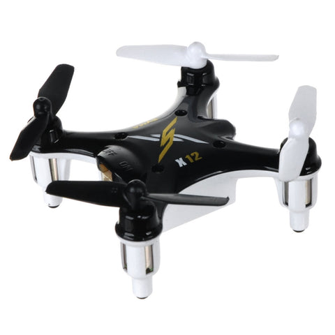 Syma Mini X12 2.4G 4CH 6-Axis Gyro 3D Rolling Throw to Fly RC Quadcopter Black