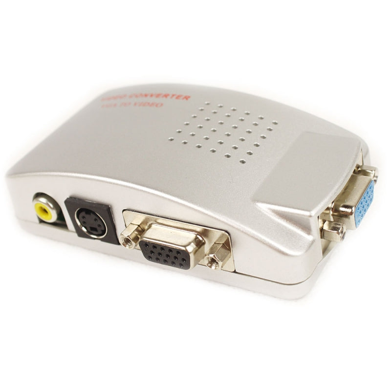 VGA to TV S-Video Signal Converter Box for PC Notebook