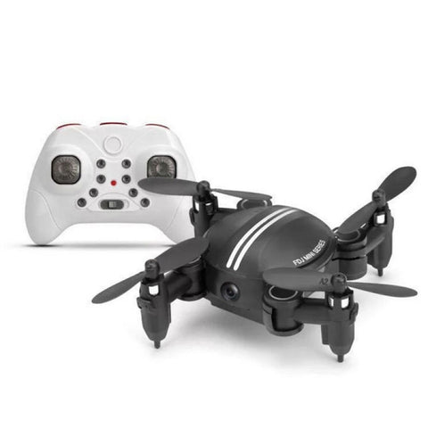 Xgody Z201YS Mini WIFI RC Camera Foldable RC 2.4GHz 6-Axis Gyro 3D Hover Drone FPV Quadcopter Black