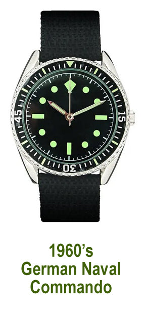 Men's Watch – 1960's German Naval Commando's style quartz watch - New in pack - #13