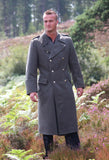Grey military wool coat for men