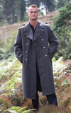 Grey Wool Full Length Greatcoat - Austrian Army Surplus