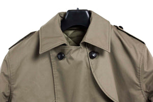 Dutch Khaki Military Trench Coat – Full Length – Unissued
