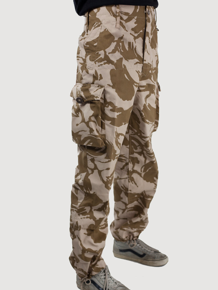British Army Desert Windproof Trousers - Desert DPM Camo – unissued