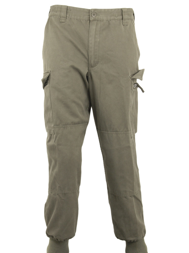 Austrian Army Olive Green Combat Trousers -  zipped fly - DISTRESSED RANGE