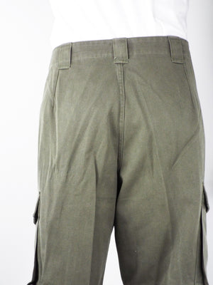 Austrian Olive Green Combat Trousers - button fly - Grade 1