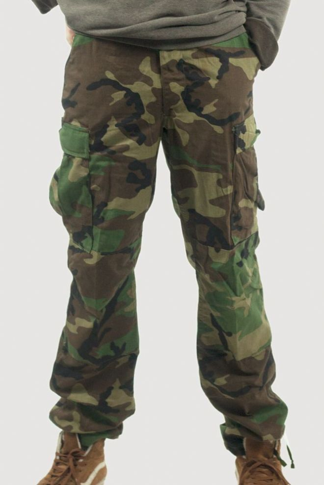 US Army Woodland Camo BDU Trousers – Genuine