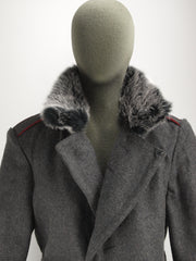 Bulgarian Grey Wool Greatcoat with dark or light grey Fur Collar - Soviet era (no fur option available)