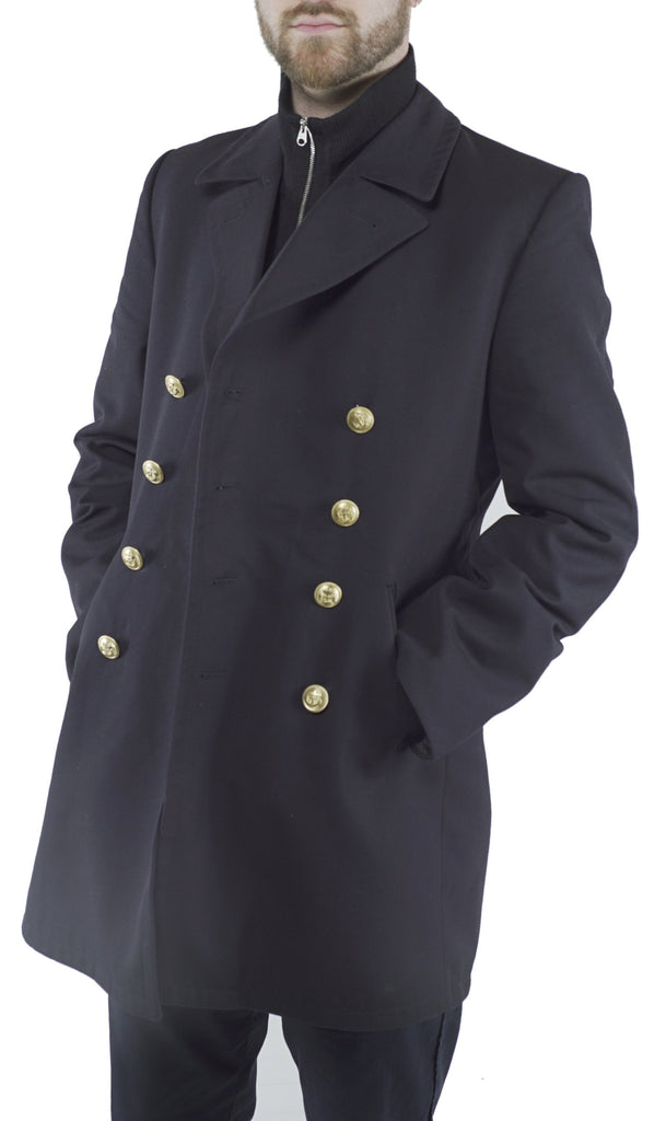 German Navy Pea Coat – Gabardine