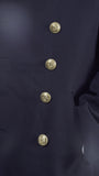 German Navy Pea Coat – Gabardine (Ladies) - buttonsup  opposite way to men's shown
