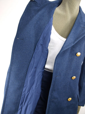 Italian navy blue wool greatcoat - Super Grade