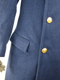 Italian navy blue wool greatcoat - New