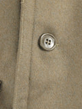 Italian Army Khaki Wool Greatcoat - plain buttons