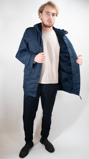 Dutch Dark Blue Parka - DISTRESSED RANGE
