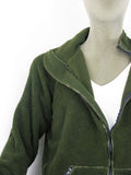 Dutch Army Fleece - Dark Green - fleeced inside and out