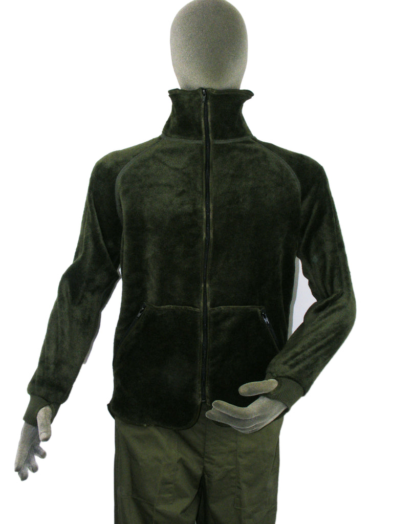 Dutch bottle green fleece - synthetic fur inside and out