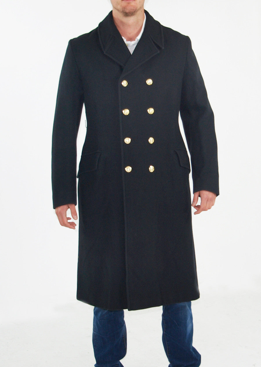 British Royal Navy Greatcoat Black 100 Wool Forces