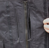 Black Gore-Tex (MVP) Waterproof Coat - British Police Surplus - chest pockets