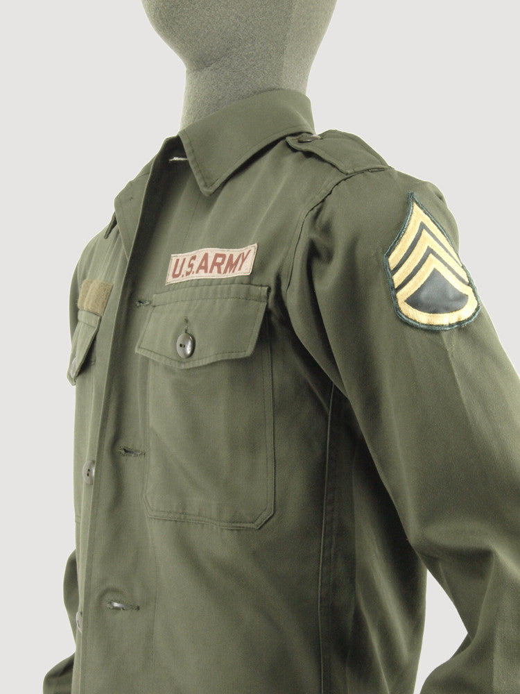 Genuine military US/NATO Fatigue Shirt with insignia
