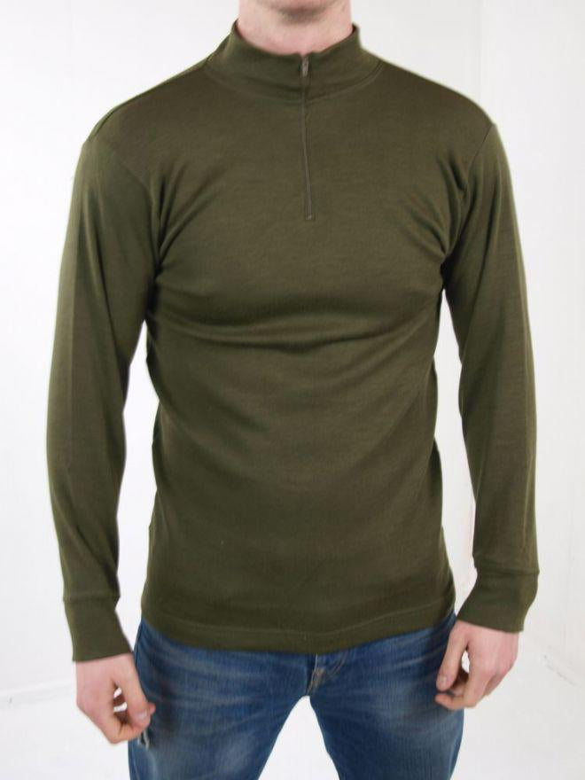 Italian Army Long Sleeve Thermal Olive Green Norgie Base Layer Top