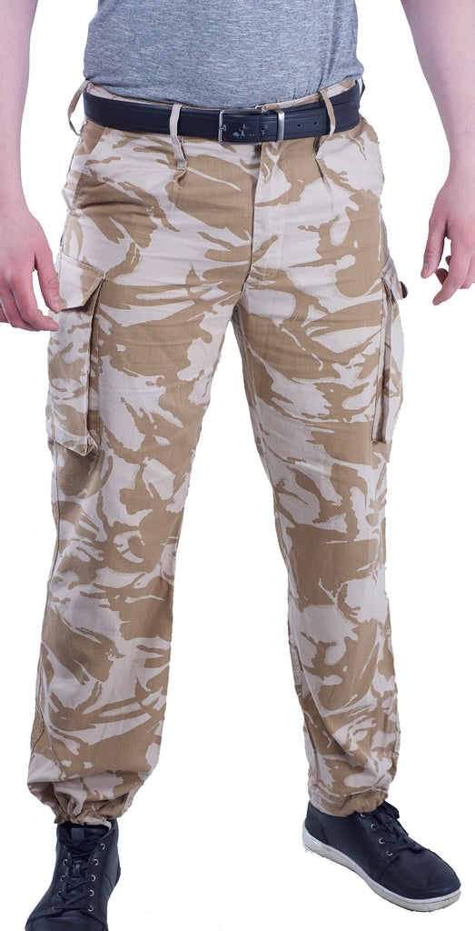 British Desert Camo Combat Trousers - DISTRESSED RANGE