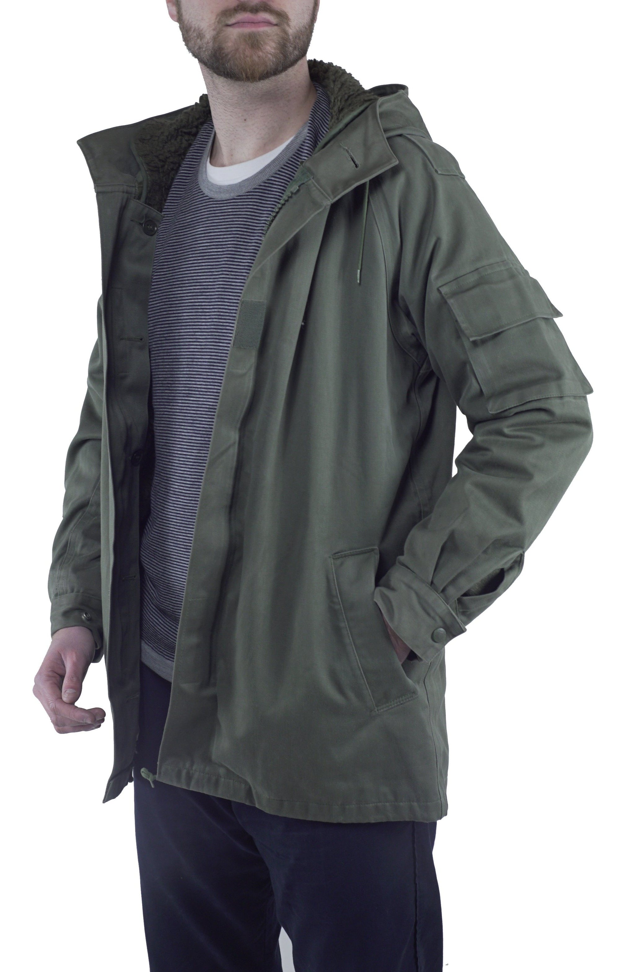 French Military Parka - with fixed new quilted liner - DISTRESSED RANGE