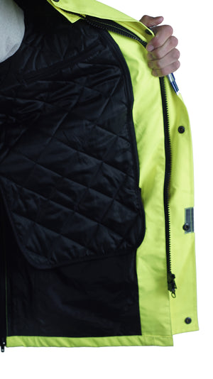 Hi Vis Jacket - UK Police Safety Coat - heavyweight