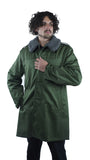 Hungarian Olive Military Parka with Liner and Large Fleecy Collar