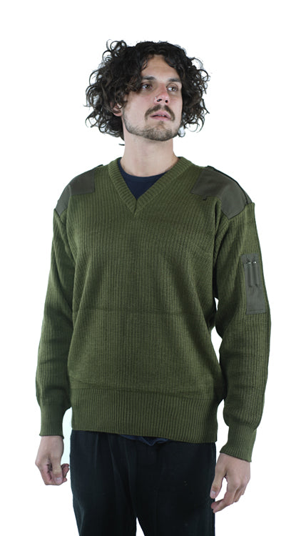 Italian Army Wool Jumper - New