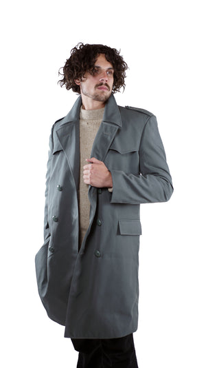 Italian Field Grey Military Trench Coat including liner – Men's - Unissued