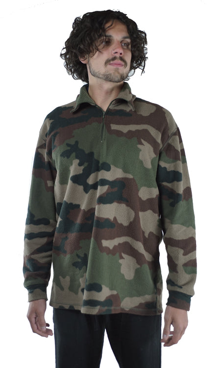 French Army CCE Camo Fleece - unissued