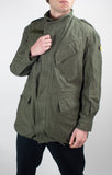 Mens Military Field Jacket - Belgian Olive Green