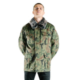 Polish Camo Jacket with Fur Collar - New