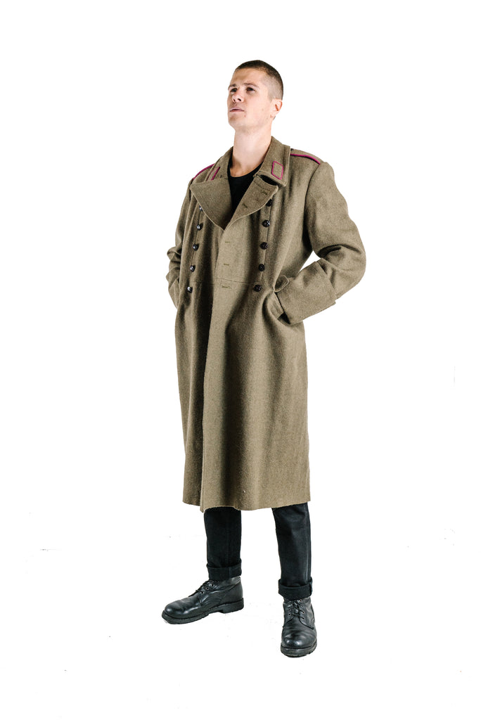 Bulgarian Military Khaki Wool Greatcoat – Soviet era