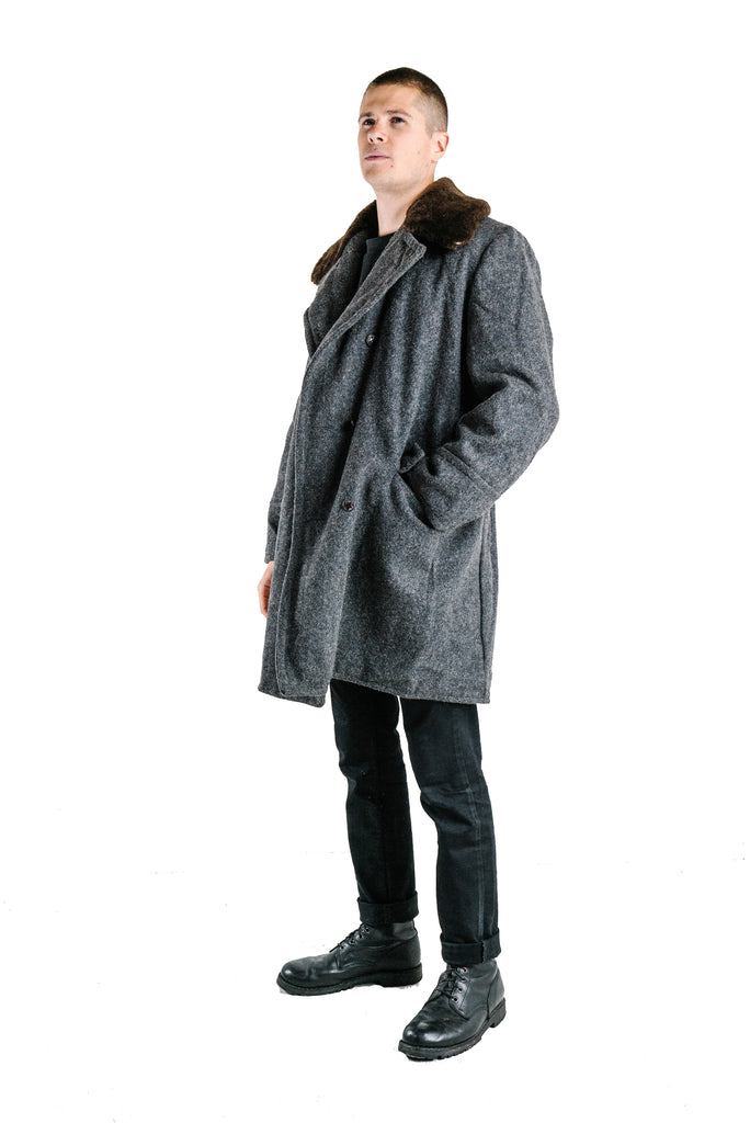 Bulgarian Military Sheepskin lined Wool Coats – Soviet era