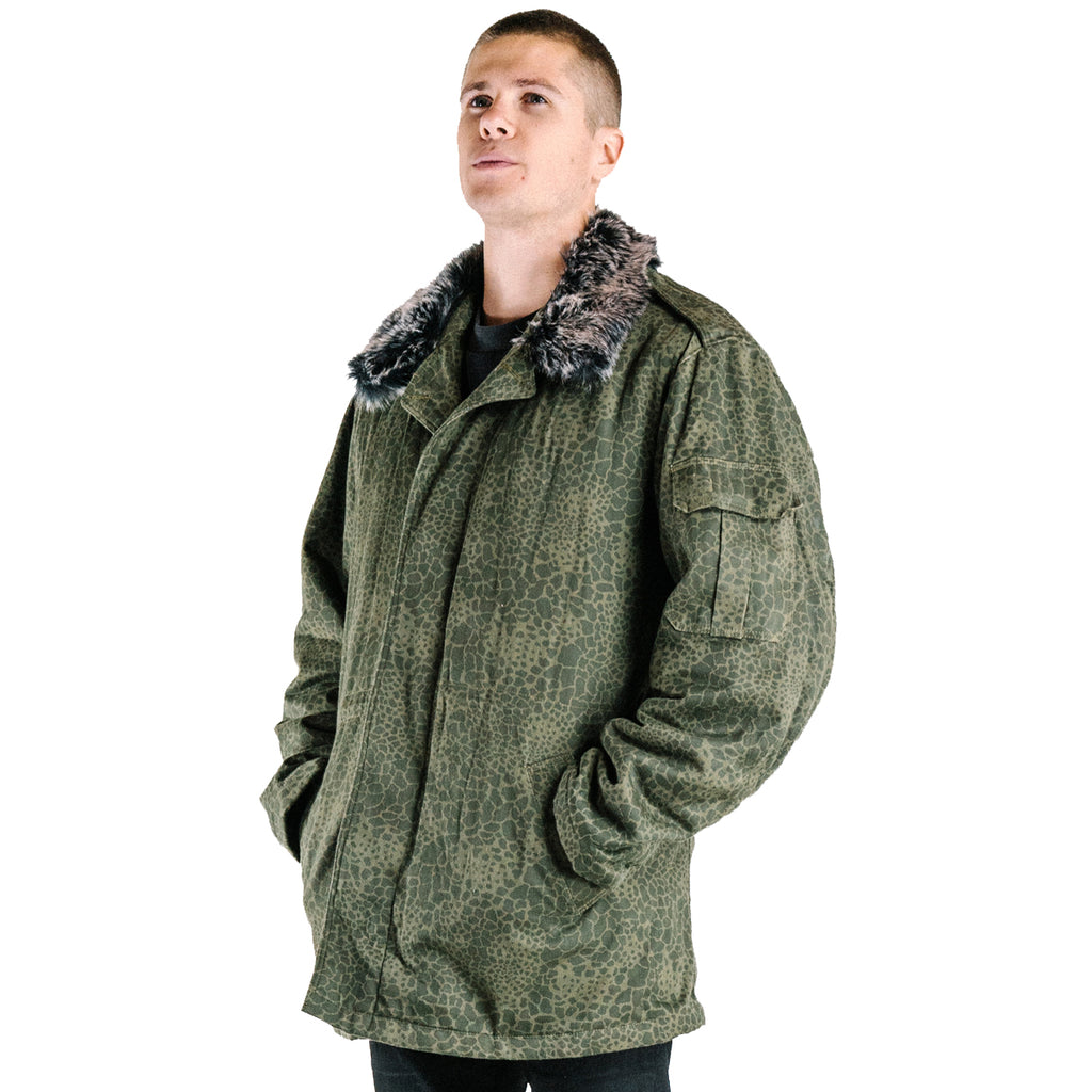 Puma Camo Jacket with fur collar - Polish Army Surplus