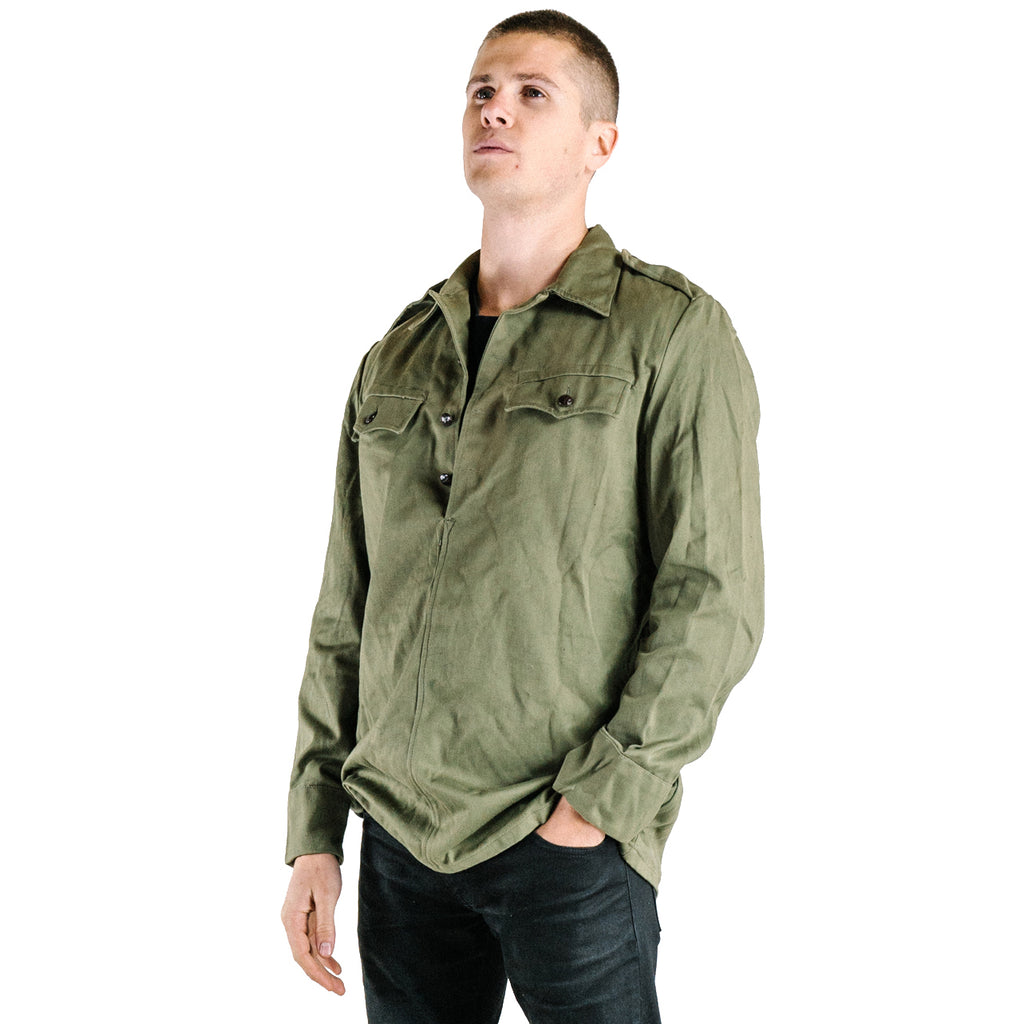 Soviet Heavy Duty Olive Green Fatigue Shirt